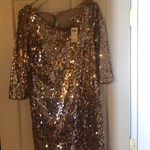 Sequin gold dress (NWT)